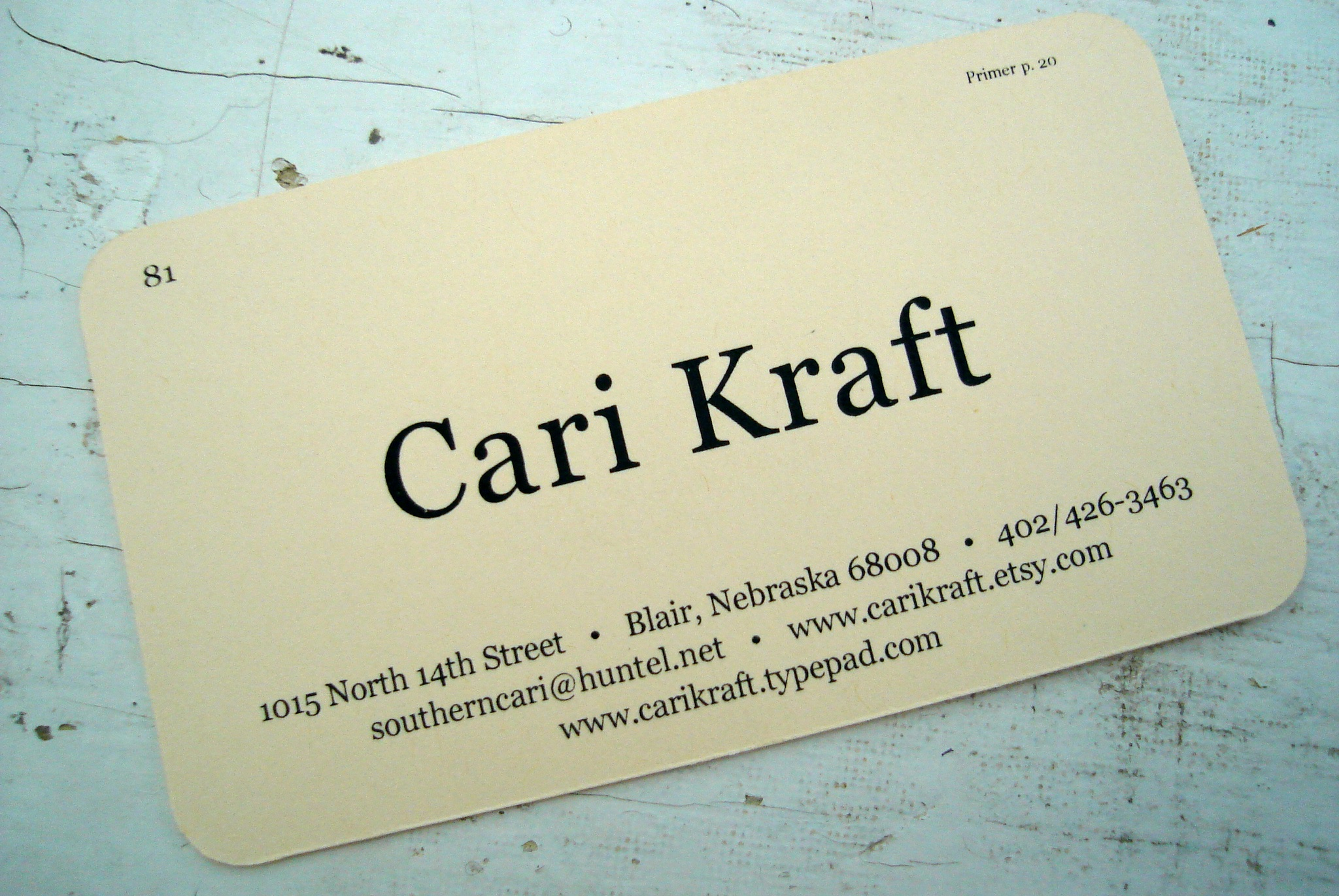 Cari's CUTE card!