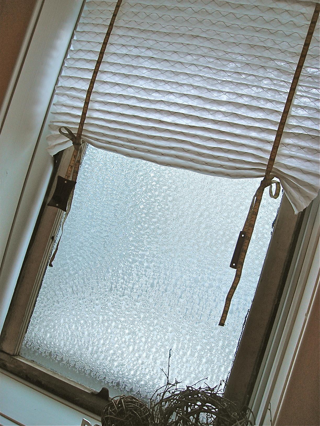 a make-do window treatment!