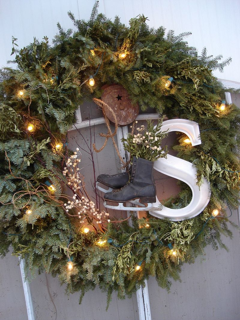 junked up wreath