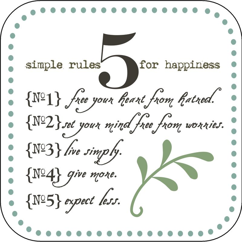 {5} simple rules...