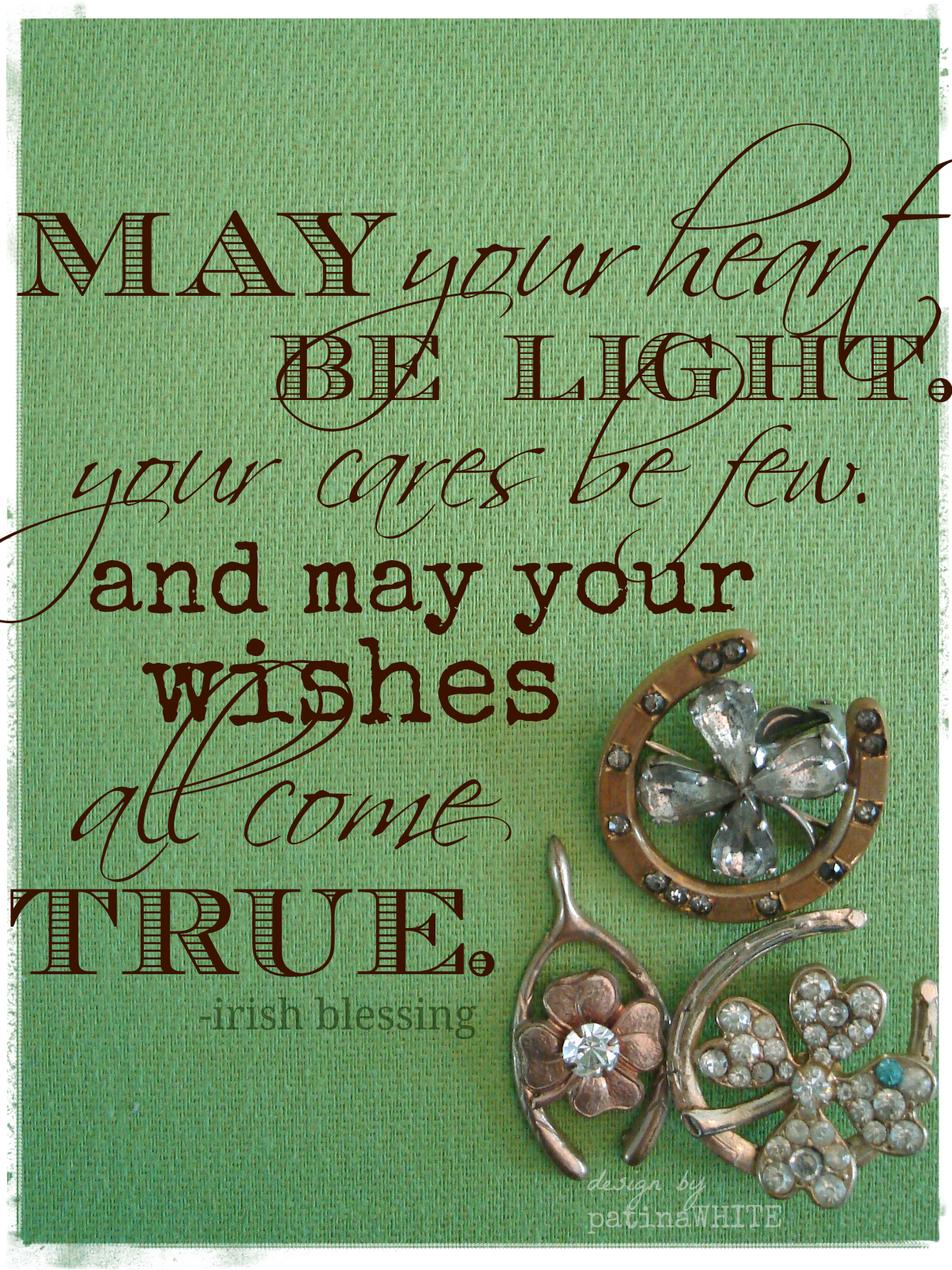Patina White May The Luck Of The Irish