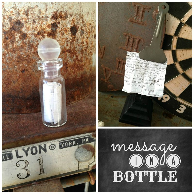 Message in a bottle collage