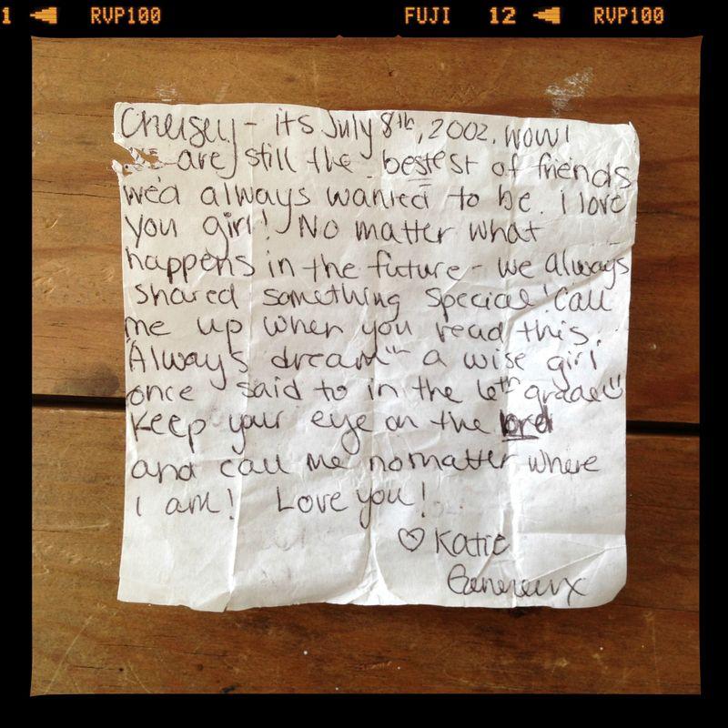 Bottle letter FRAMED